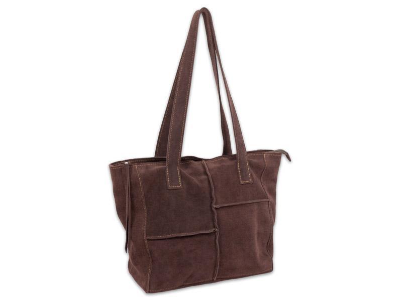 "Velúrbőr táska ""chocolate"""