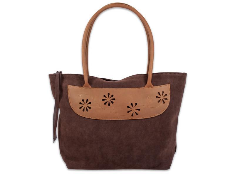 "Velúrbőr  táska ""Daisy chocolate"""