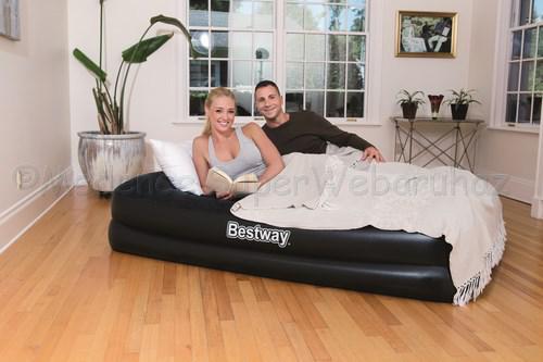 2 személyes Komfort felfújható ágy beépített pumpával, 203 cm x 152 cm x 46 cm