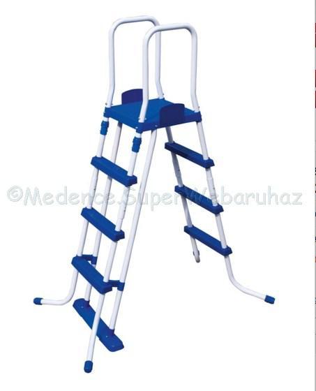 Biztonsági, kétágú medence létra 122 cm