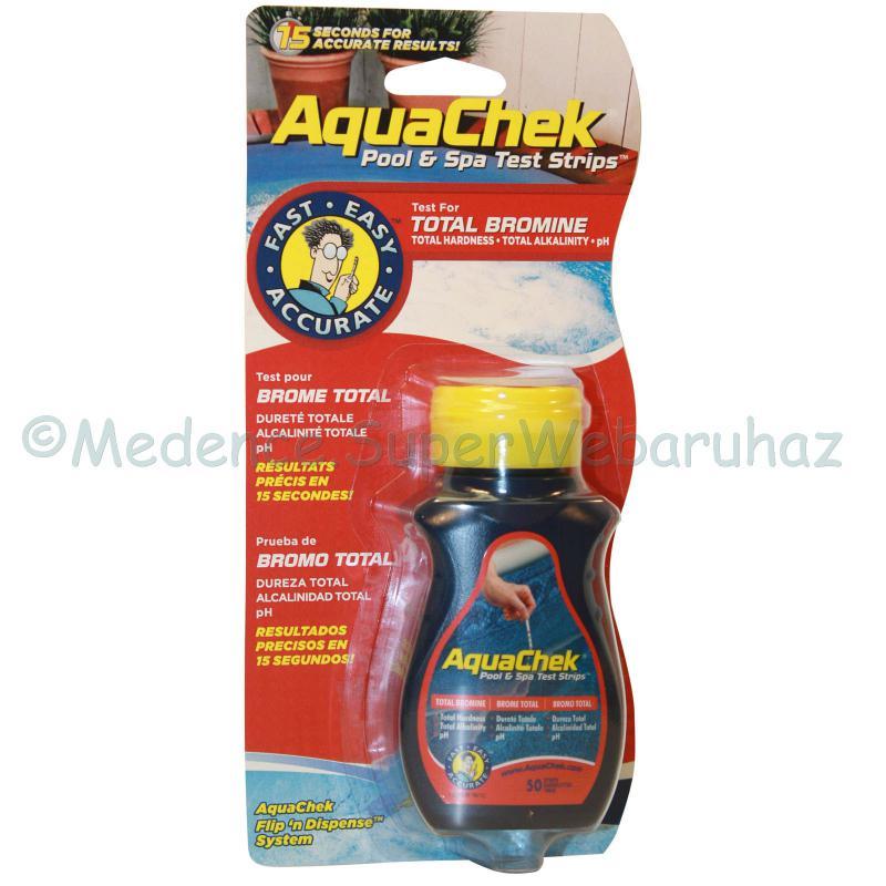 Bróm mérő tesztcsík, 4 az 1-ben vízelemző  AquaChek
