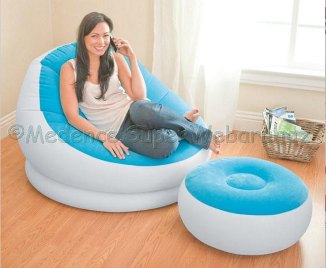 Cafe Chaise felfújható fotel lábtartóval