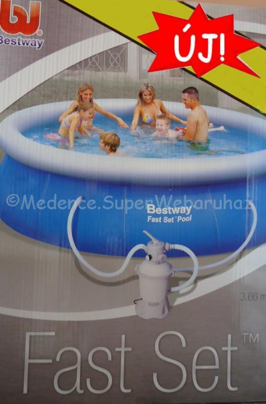 Családi körmedence 366 x 91 cm homokszűrős vízforgatóval