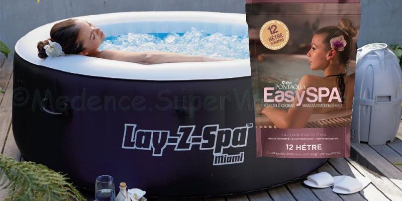 EasySpa, 3 az 1-ben vízkezelő készlet masszázsmedencékhez