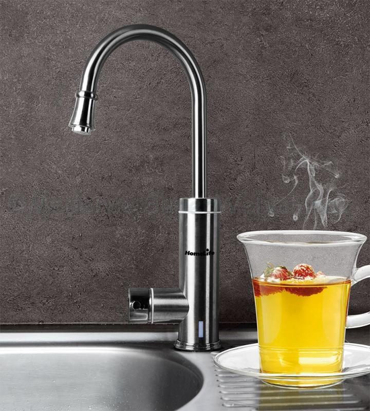Elektromos vízmelegítős csaptelep INOX