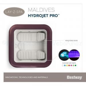AirJet és HydroJet LAY-Z-Spa  Maldív masszázsmedence, 5-7 személyes