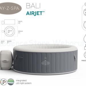 AirJet Lay-Z-Spa BALI  masszázsmedence színes LED világítással, 2-4 személyes