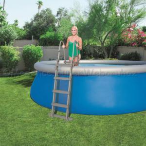 Biztonsági kétágú medence létra 122 cm