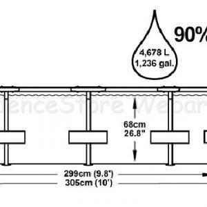 Fémvázas medence 305 x 76 cm szűrővel STEEL PRO MAX