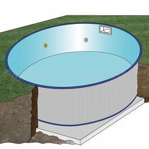 Földbe épített kerek medence 4,2 x 1,5 m