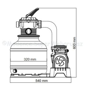 Homokszűrős medence vízforgató 8327 l/h