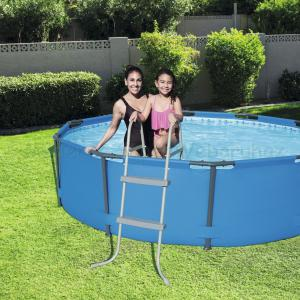 Kétágú  medence létra 76 cm - 84 cm magas medencékhez