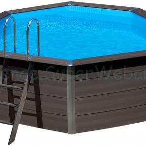 Kompozit kerek medence szett 4,1 m x 1,24 m homokszűrővel