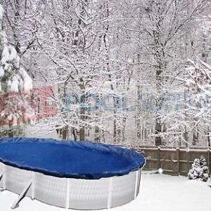Takarófólia téli/nyári, fémfalas ovális 9,0 x 4,5 m-es medencéhez, extra erős