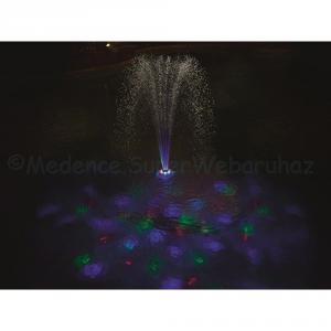 Vízen úszó LED világítás és szökőkút medencébe
