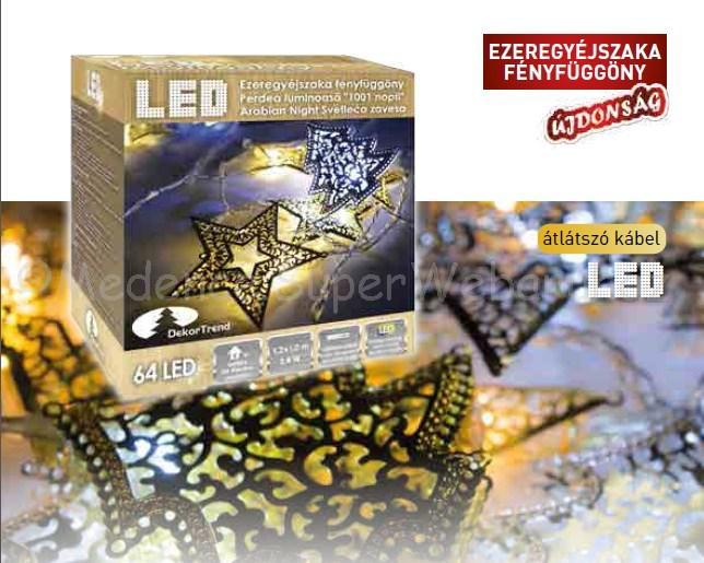 Ezeregyéjszaka fényfüggöny 1,2 m x 1,2 m 64 LED