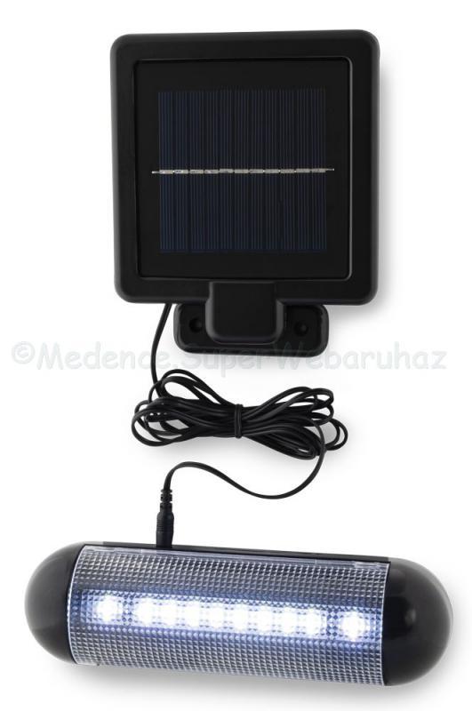 Fali napelemes LED világítás külső  panellel