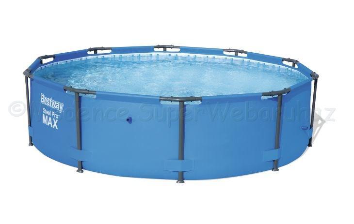 Fémvázas medence 366 x 100 cm önállóan STEEL PRO MAX