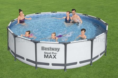 Fémvázas medence 427 x 122 cm készlet STEEL PRO MAX