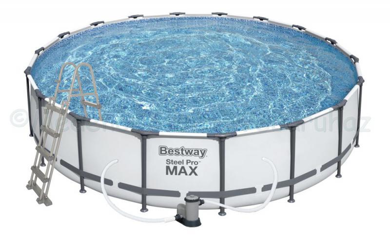 Fémvázas medence 549 x 122 cm készlet Steel Pro MAX