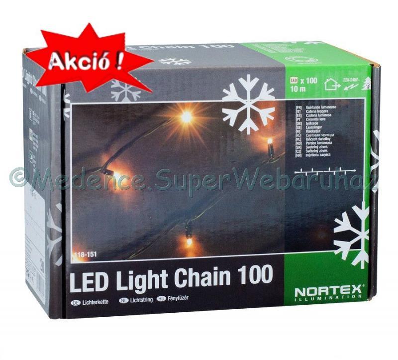 Fényfüzér 100 LED, 10 m - toldható