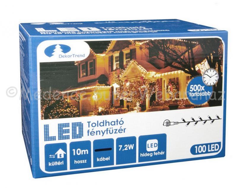 Fényfüzér 50 LED, 5 m -  toldható