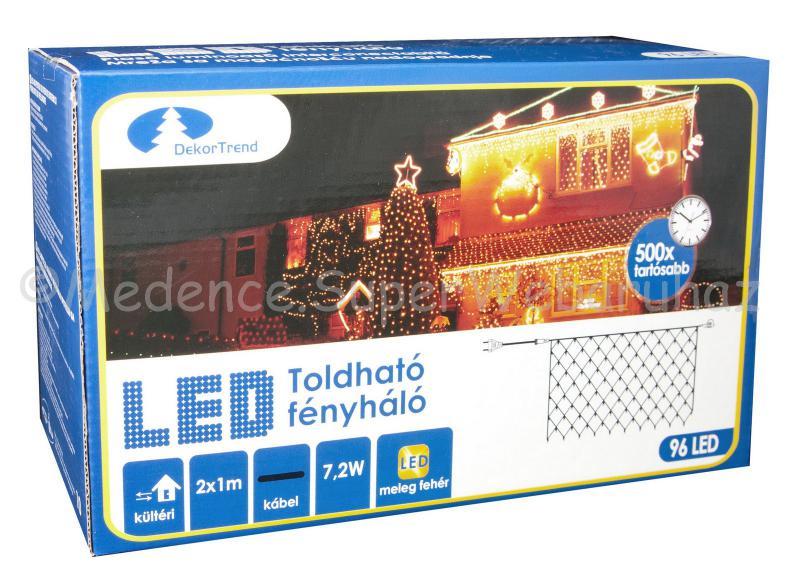 Fényháló 96 LED, 2 m x 1 m - toldható