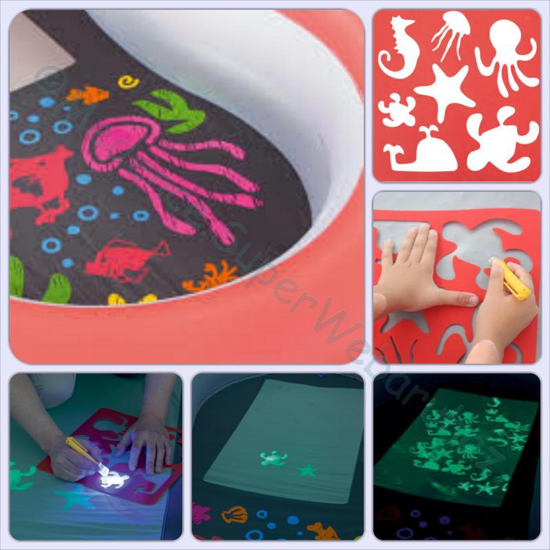 Fluoreszkáló medence LED lámpával
