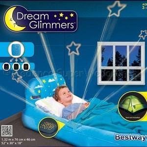 Gyermekágy beépített projektorral, felfújható