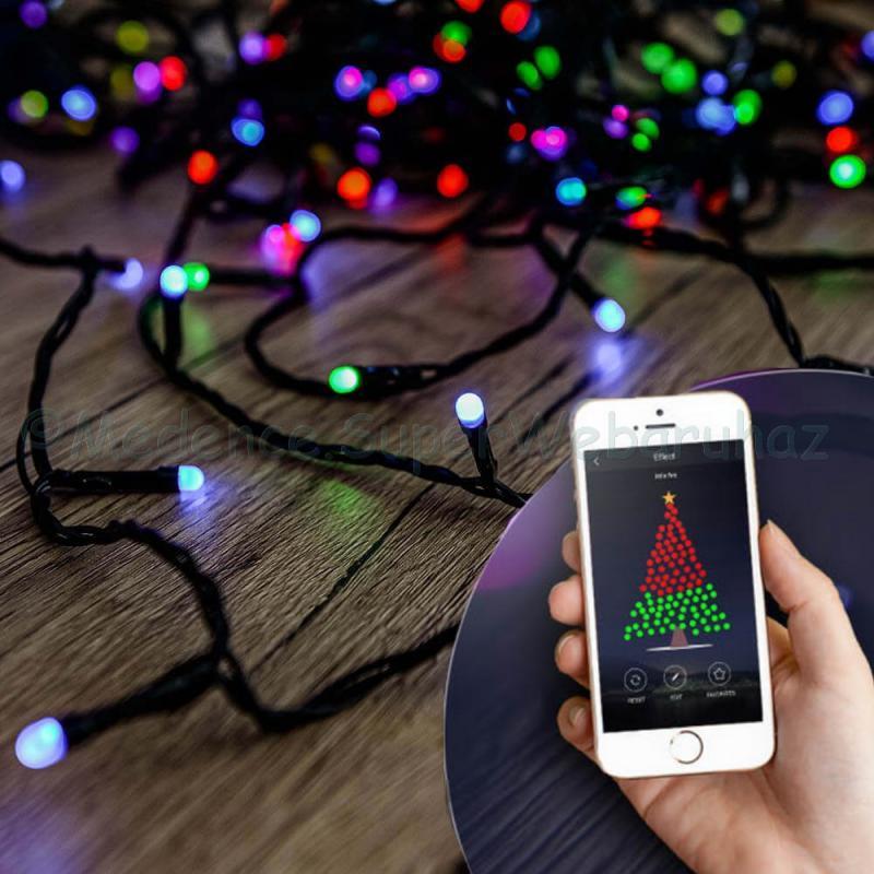 HEYLIGHT telefonnal vezérelhető fényfüzér 240 LED 24 m