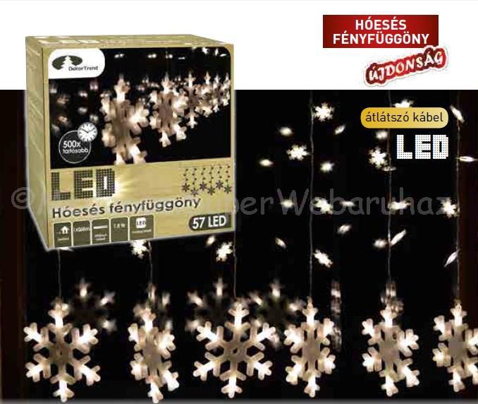 Hóesés fényfüggöny 1 m x 0,65 m 57 LED