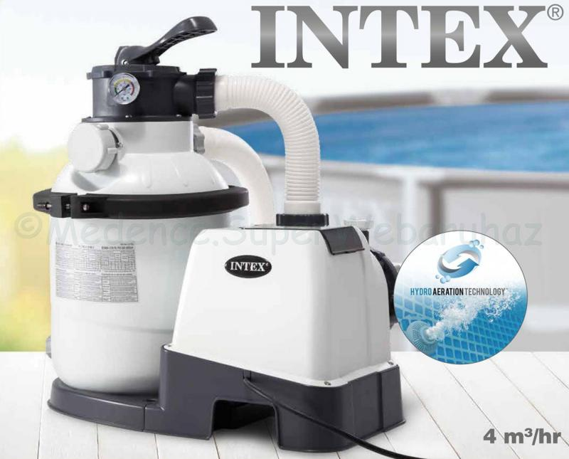 Homokszűrős medence vízforgató KRYSTAL CLEAR 4 m3/óra