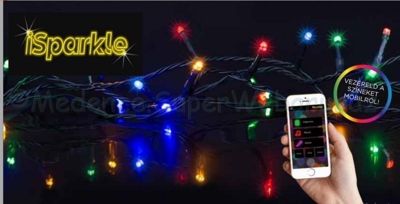 iSparkle™ telefonról vezérelhető okos fényfüzér 180 LED RGBW