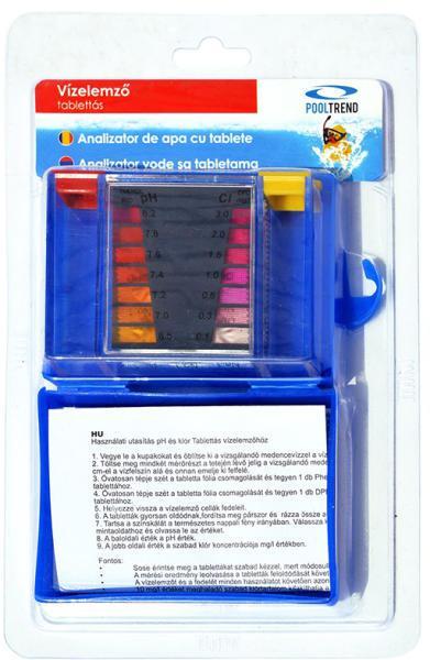 Klór és pH  méréshez tablettás vízelemző