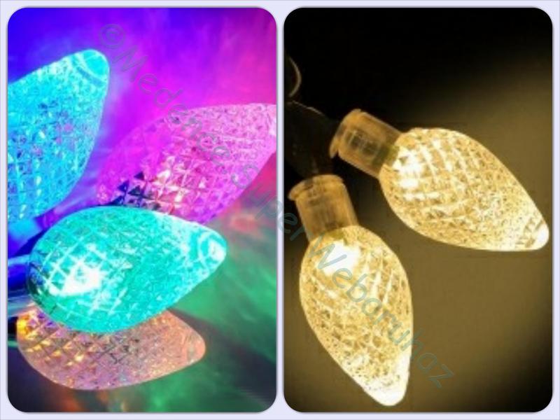 Kristálycsepp fényfüzér 12 m 60 LED