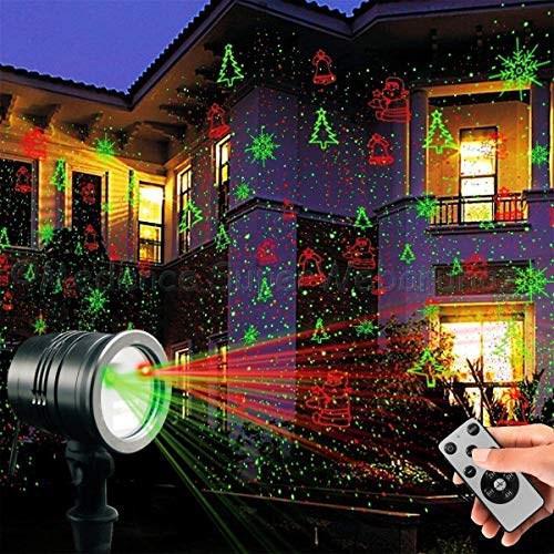 Lézerfény projektor karácsonyi mintákkal