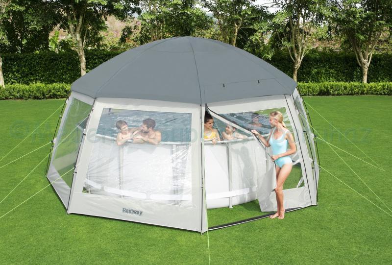 Medencesátor 600 x 600 x 295 cm - Pool Dome