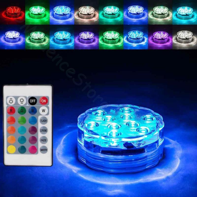 Merülő party fény 10 LED-es, távirányítóval
