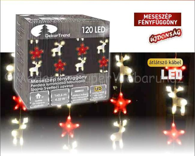Meseszép fényfüggöny 1 m x 0,6 m 120 LED