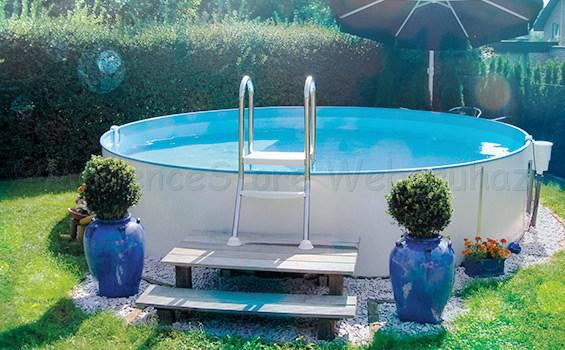 Modena medence 5,0 x 1,2 m, Adria-kék