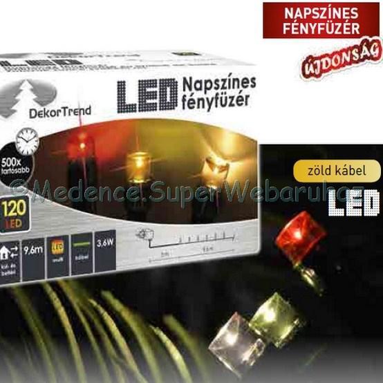 Napszínes fényfüzér 9,6 m 120 LED