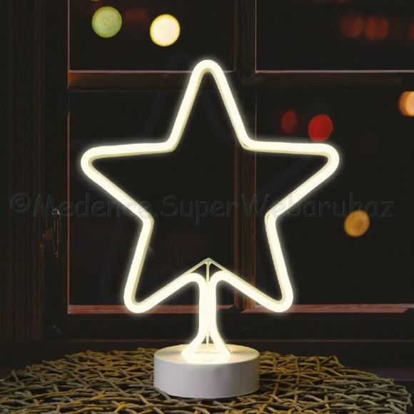 Neonfényű ablak vagy lakásdísz elemes - csillag 31 cm