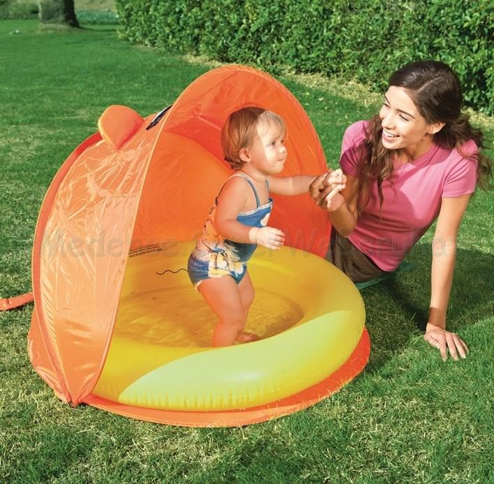 Pancsoló állítható napvédő sátorral 97 cm x 97 cm x 74 cm