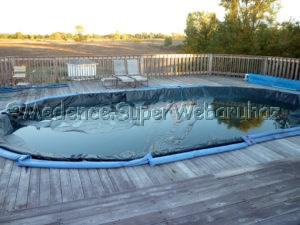 Süllyesztett medencéhez téli takaró 7,6 x 14,9 m