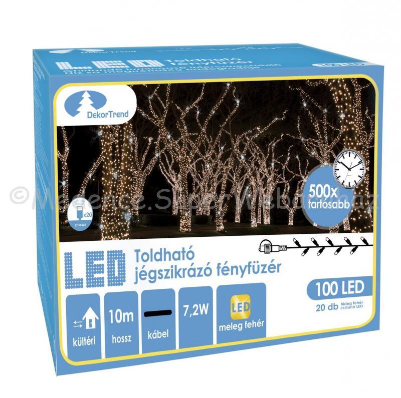 Szikrázó fényfüzér 100 LED, 10 m - toldható