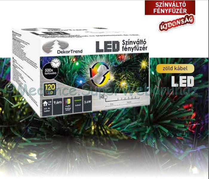 Színváltó fényfüzér 9,6 m 120 LED