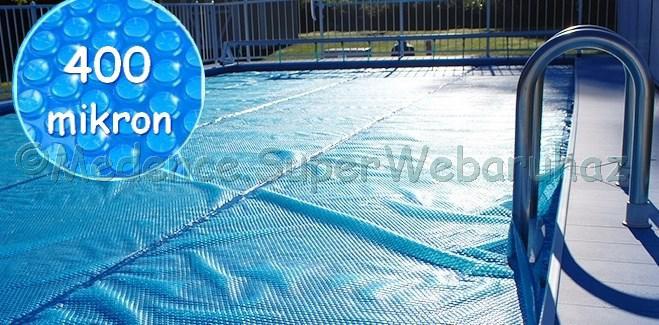 Szolár takarófólia szögletes 3 m x 6 m, 400 µ, UV védelemmel