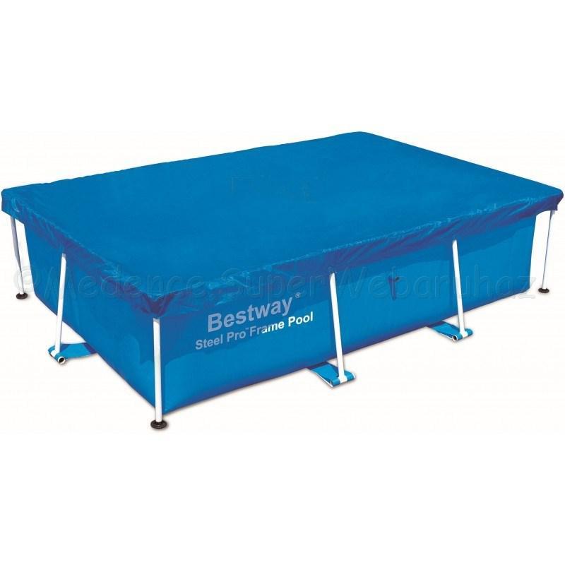 Takarófólia szögletes fémvázas 259 x 170 cm-es SPLASH medencéhez