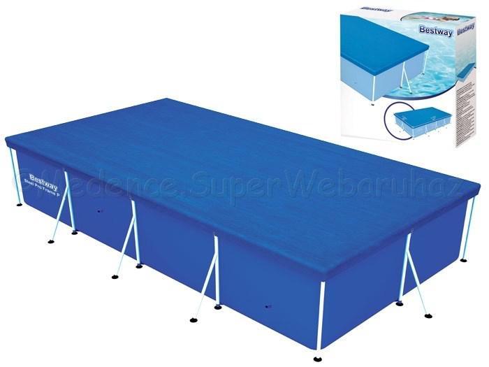 Takarófólia szögletes fémvázas 400 cm * 211 cm-es SPLASH medencéhez