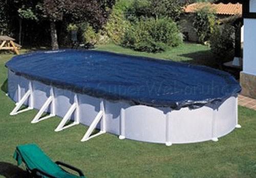 Takarófólia téli/nyári, fémfalas ovális 5,4 x 3,6 m-es medencéhez, extra erős